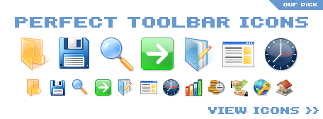 professionally-designed toolbar icons