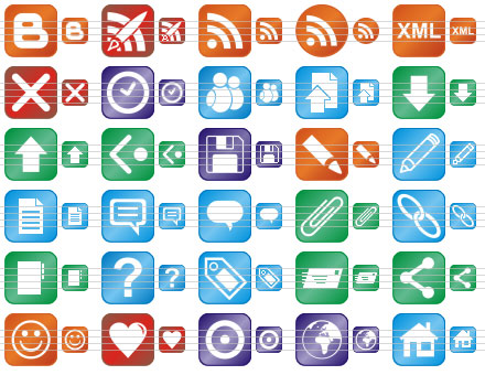 Click to view Perfect Blog Icons 2011.1 screenshot