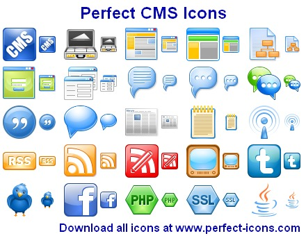 Click to view Perfect CMS Icons 2011.5 screenshot