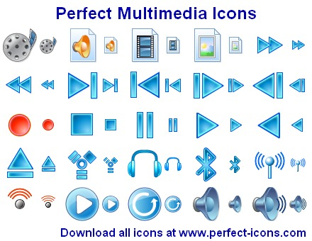 multimedia, icons, toolbar, icon, project, music, video