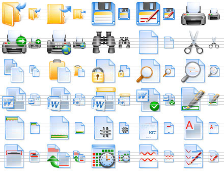 Screenshot vom Programm: Perfect Office Icons