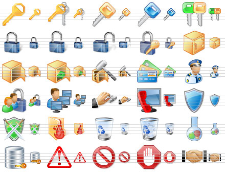 Click to view Perfect Security Icons 2010.3 screenshot