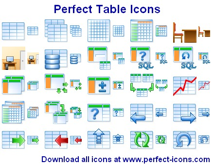 Click to view Perfect Table Icons 2011.3 screenshot