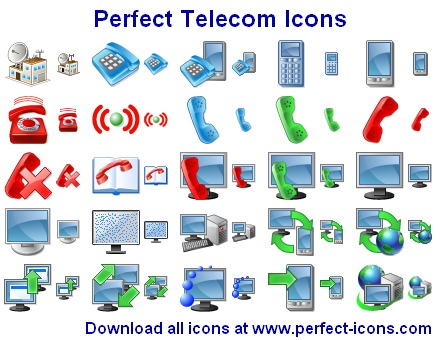 Click to view Perfect Telecom Icons 2015.1 screenshot