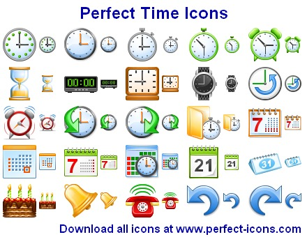 Click to view Perfect Time Icons 2011.3 screenshot