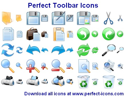 AhaSoft Perfect Toolbar Icons