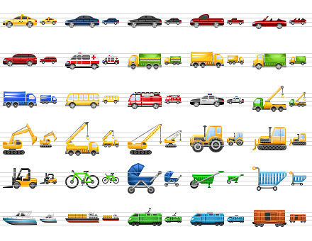 Perfect Transport Icons